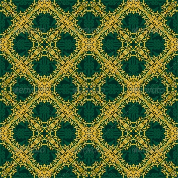 GraphicRiver Seamless Yellow and Green Pattern 6524531