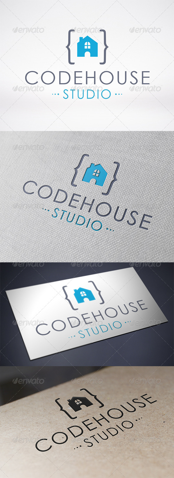 GraphicRiver Code House Logo Template 6524543