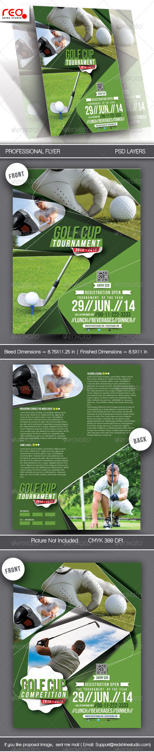 GraphicRiver Golf Tournament Flyer & Poster Template 6524564