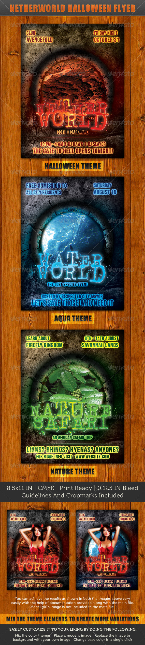 Netherworld Flyer - Clubs & Parties Events