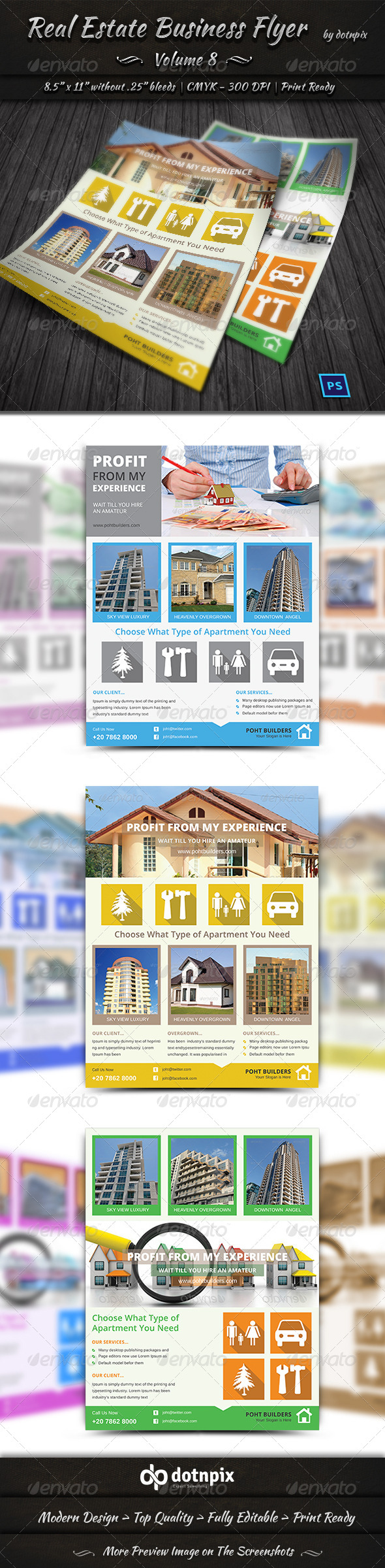GraphicRiver Real Estate Business Flyer Volume 8 6490527