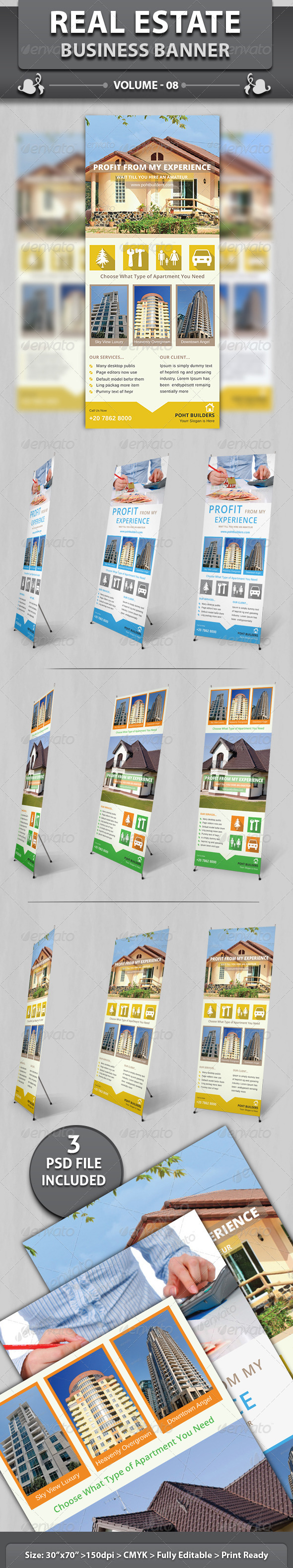GraphicRiver Real Estate Business Banner Volume 8 6500929