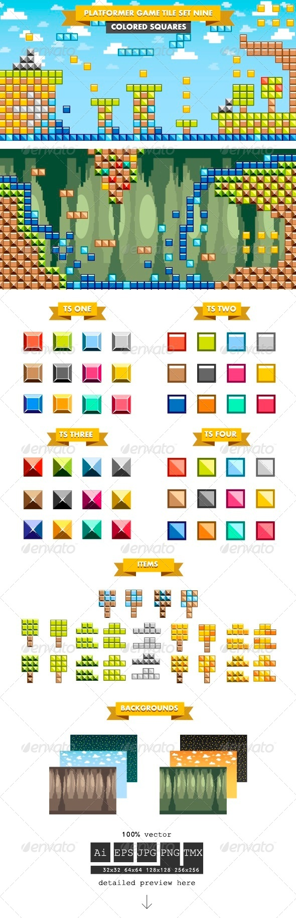 GraphicRiver Platformer Game Tile Set Nine 6524980
