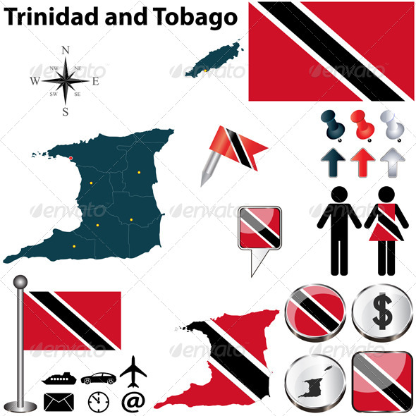 GraphicRiver Map of Trinidad and Tobago 6525023