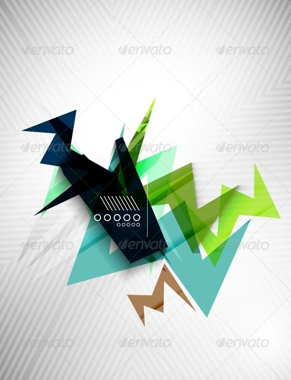 GraphicRiver Geometric Lightning Business Background 6525036