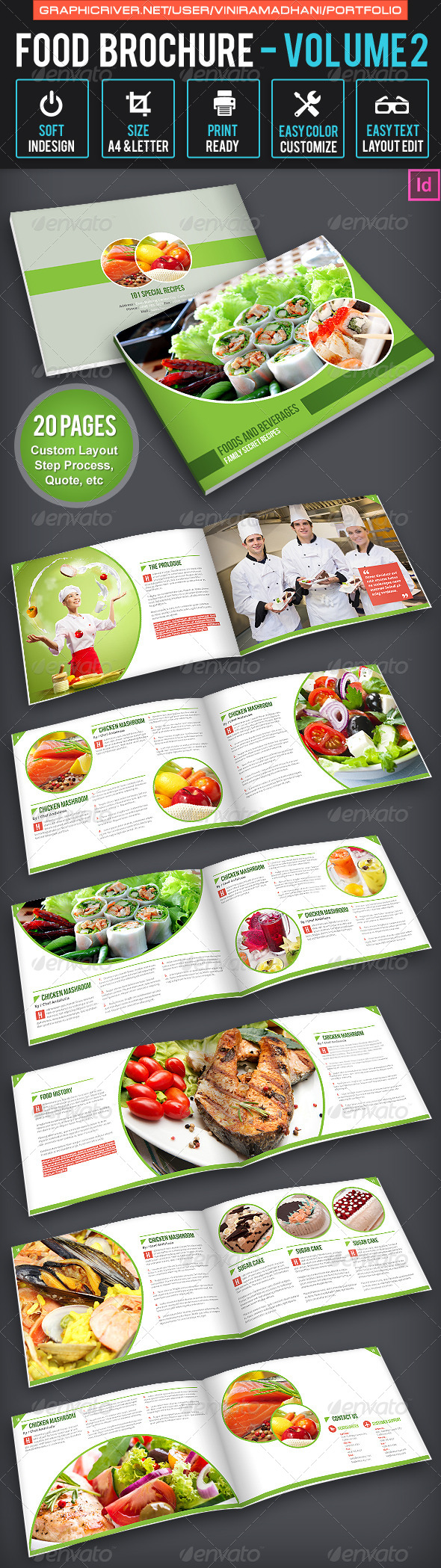 GraphicRiver Food Brochure Volume 2 6525263