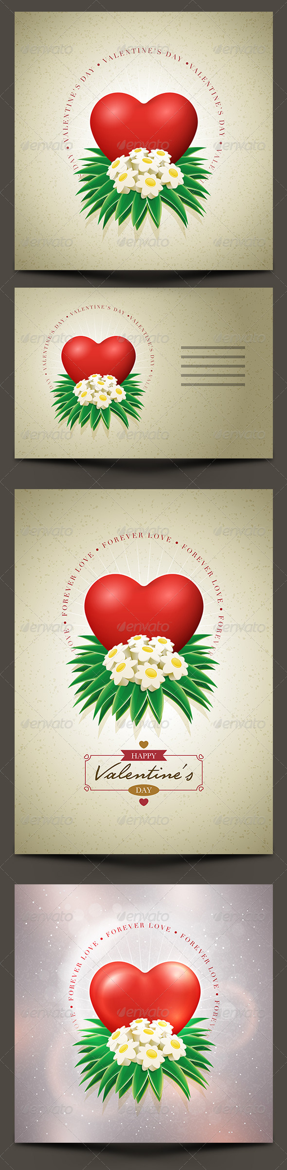 GraphicRiver Valentine s Day Card Set 6525504