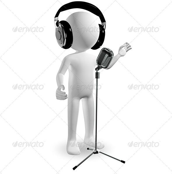 GraphicRiver Man in Headphones 6525650