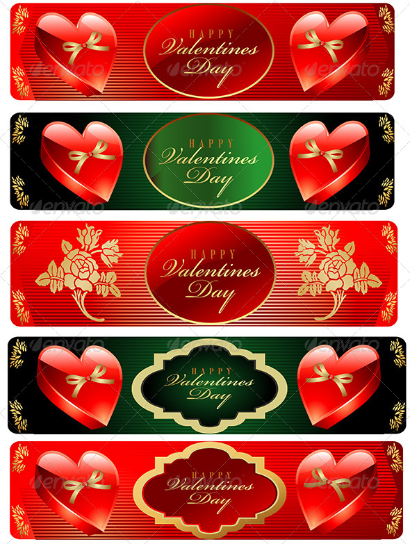GraphicRiver Valentine s Day Banner Set 6525684