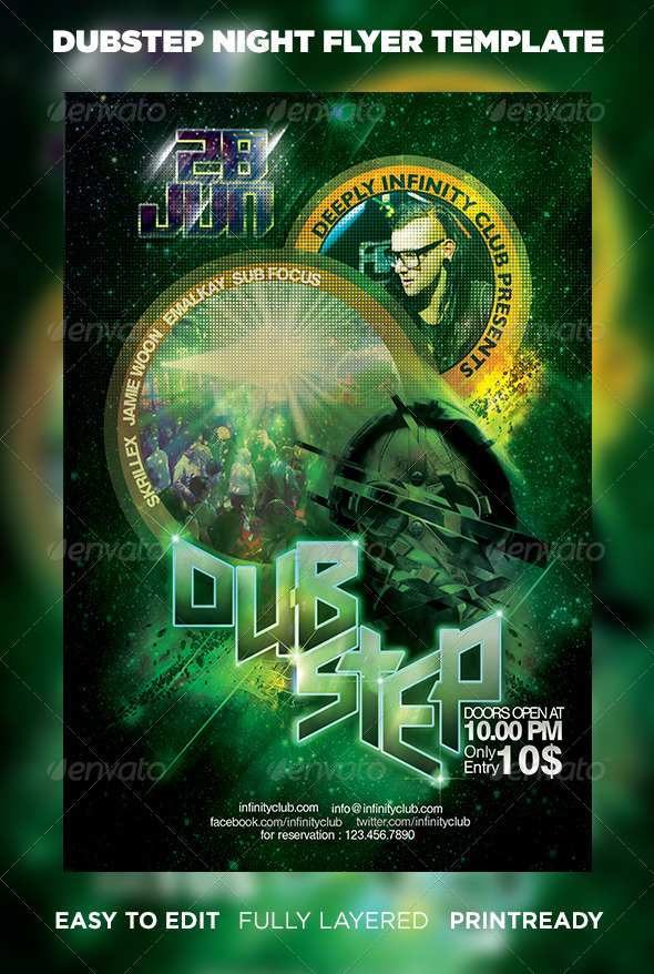 GraphicRiver Dubstep Party Flyer 6496402