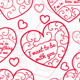Seamless Patterns of Hearts - GraphicRiver Item for Sale