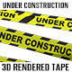 Under Construction Barricade Tape - GraphicRiver Item for Sale