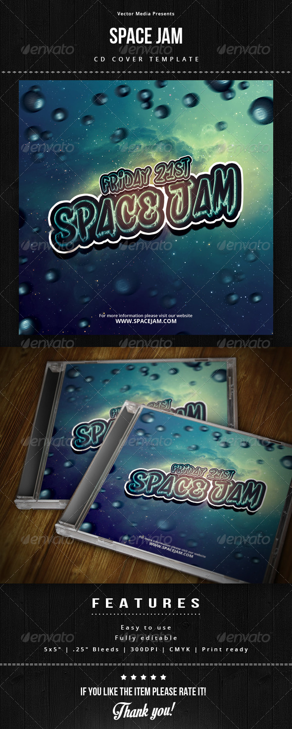 GraphicRiver Space Jam Cd Cover 6525980