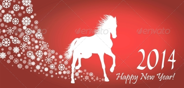 GraphicRiver Horse Year 6526140