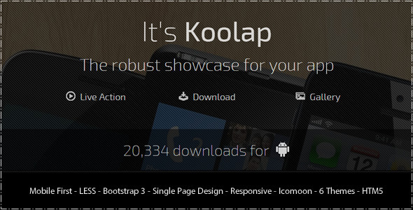 ThemeForest Koolap The All-in-One App Landing Page 6524393