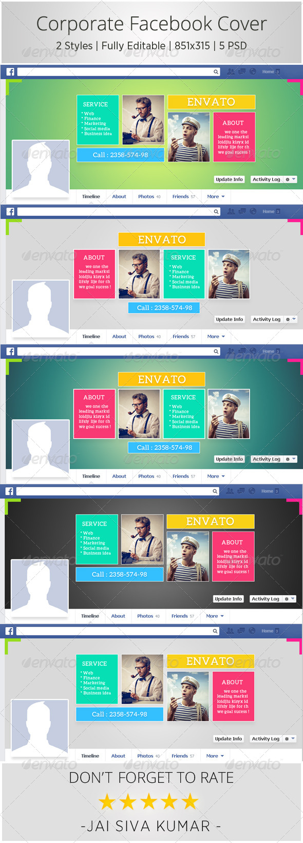 GraphicRiver Corporate Facebook Timeline 6526536