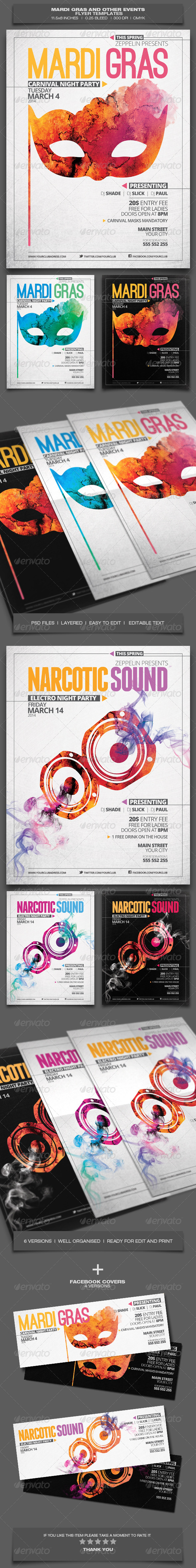 GraphicRiver Mardi Gras and Other Events Party Flyer Template 6526614