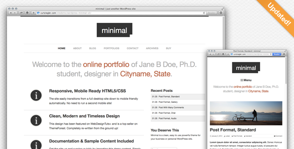 Minimal Wordpress Portfolio