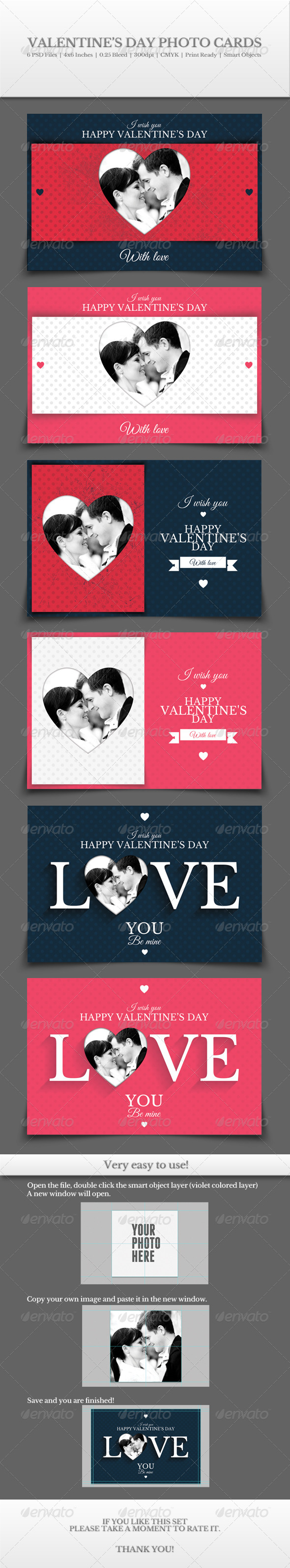 GraphicRiver Valentine s Day Photo Cards 6527850