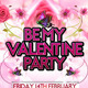 Be My Valentine Party Flyer Template - GraphicRiver Item for Sale