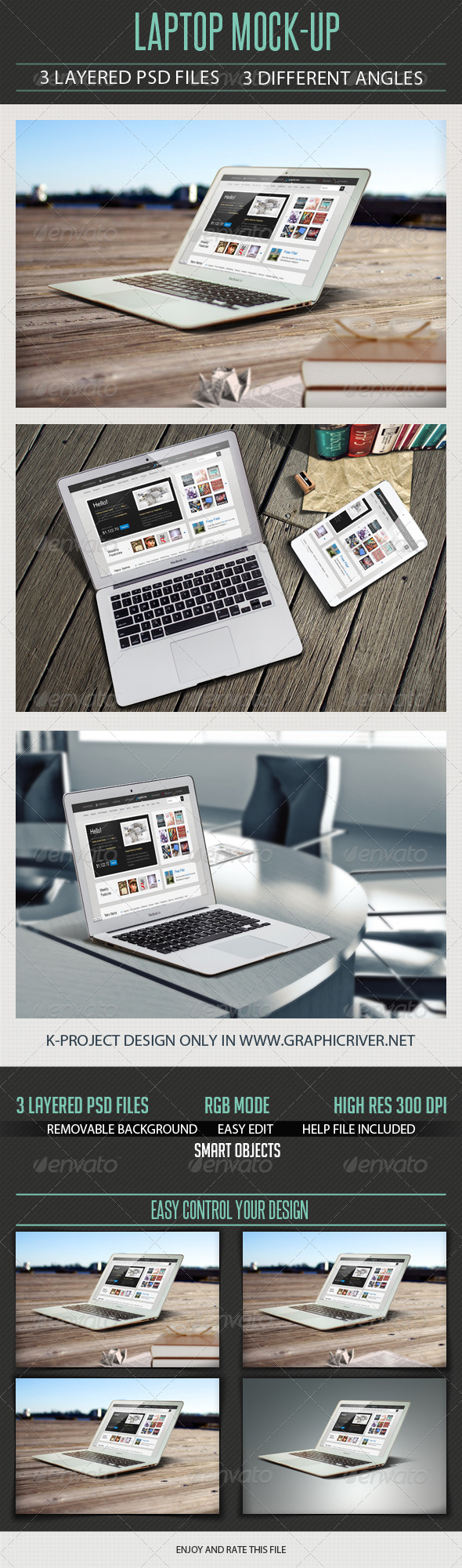 GraphicRiver Laptop Mock Up 6527958