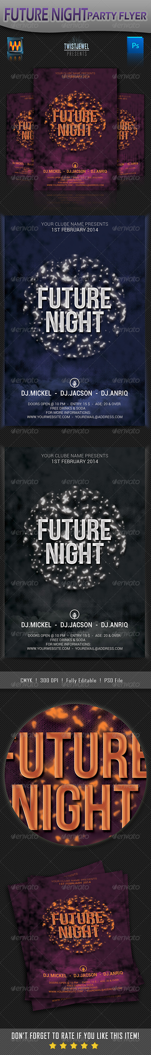 GraphicRiver Future Night Party Flyer 6528756