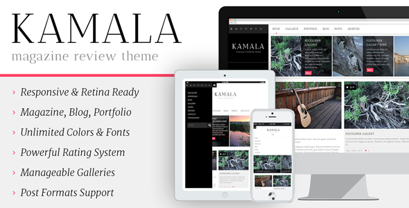 ThemeForest Kamala Multi-purpose Magazine Review Theme 6491179