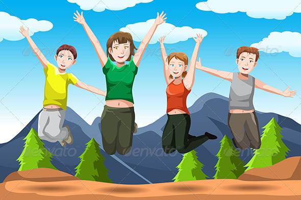 GraphicRiver Friends Jumping 6529396