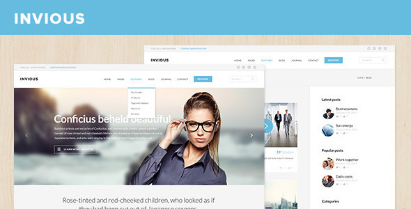 ThemeForest INVIOUS Corporate PSD Template 6529789