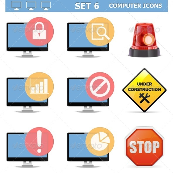 GraphicRiver Computer Icons Set 6 6529838