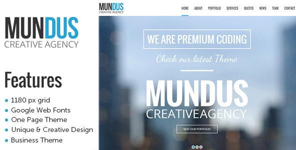 ThemeForest Mundus A Business One Page Wordpress Theme 6530166