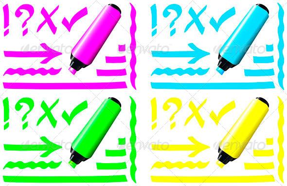GraphicRiver Fluorescent Marker 6530704