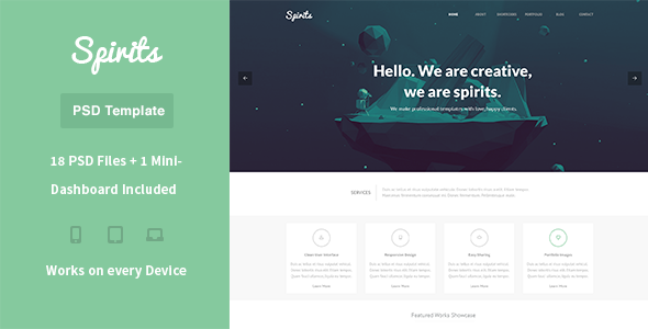 ThemeForest Spirits PSD Template 6530202