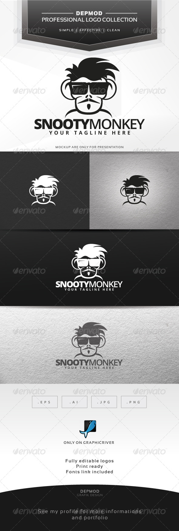 GraphicRiver Snooty Monkey Logo 6530924