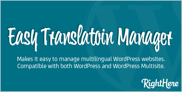 Easy Translation Manager for WordPress - CodeCanyon Item for Sale