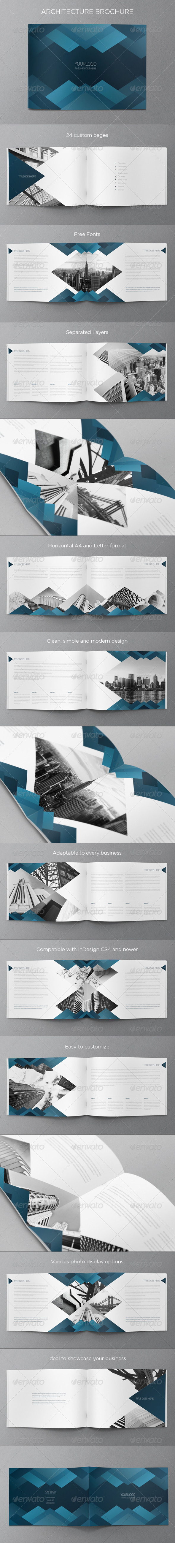 GraphicRiver Blue Architecture Brochure 6531248