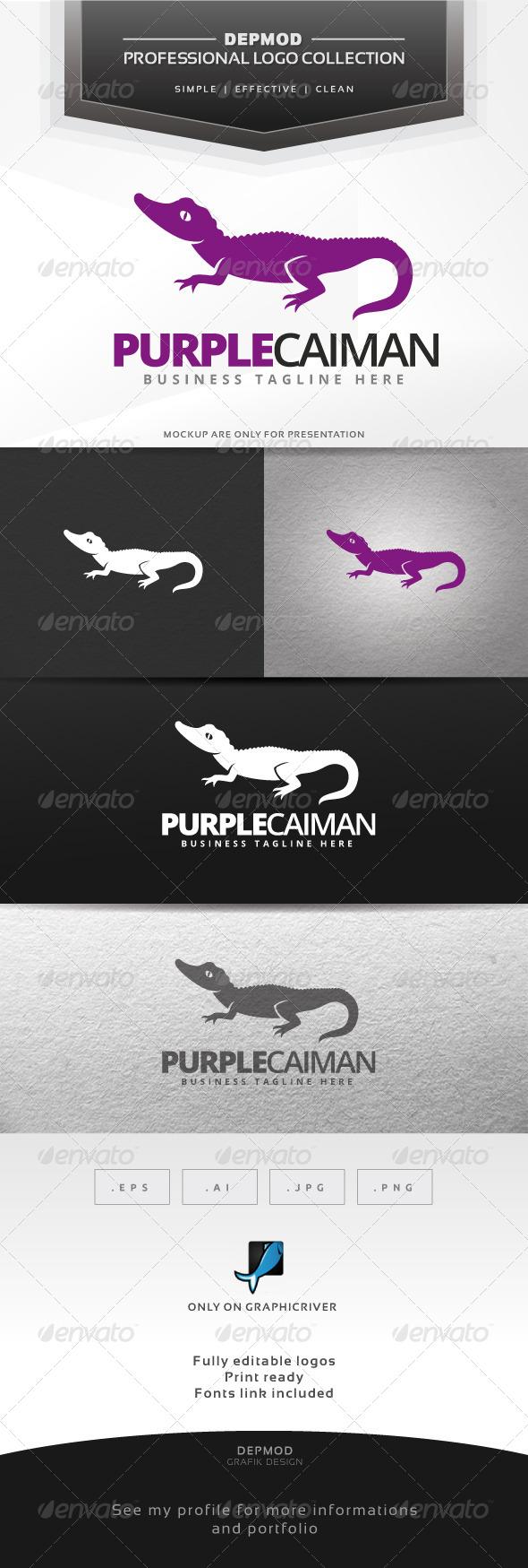 GraphicRiver Purple Caiman Logo 6531988