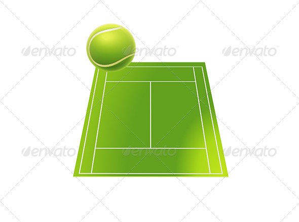 GraphicRiver Tennis Court with Tennis Ball 6532449