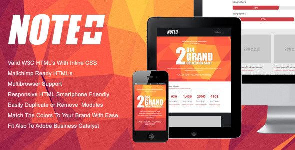 ThemeForest NOTE Responsive Email Newsletter Template 6532525