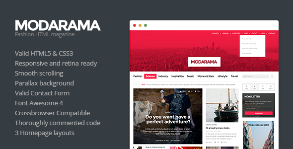 ThemeForest Modarama Magazine HTML5 Template 6532785