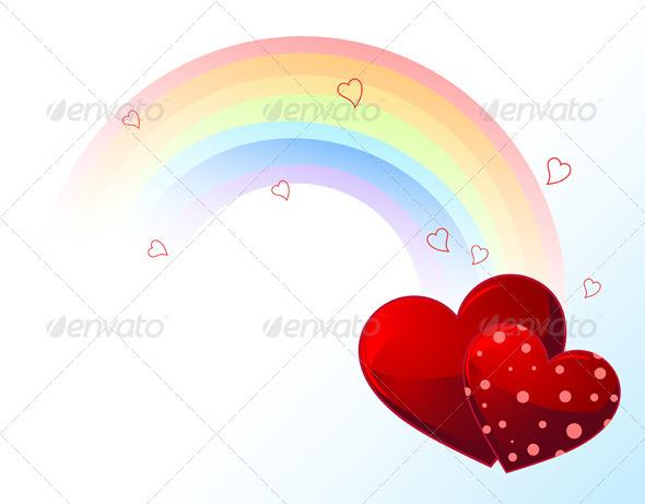 GraphicRiver Valentines Day Rainbow 6533046