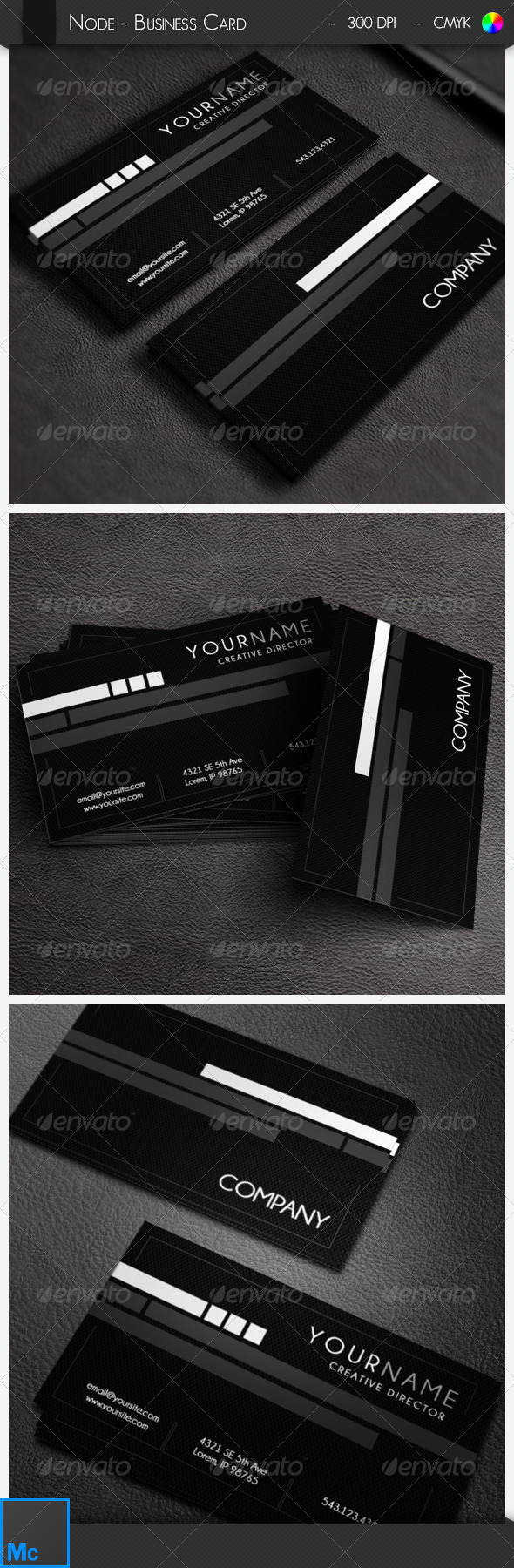 GraphicRiver Node Modern Business Card 6533115