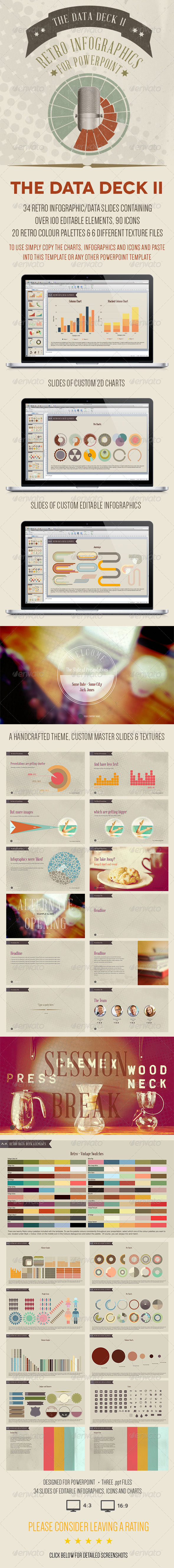 GraphicRiver The Data Deck II Retro Powerpoint Infographics 6504267
