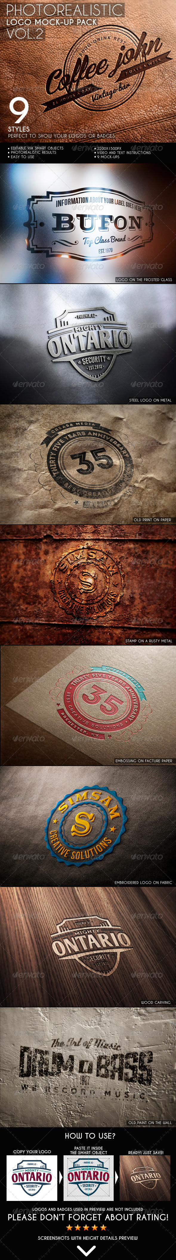GraphicRiver Photorealistic Logo Mock-Up Pack Vol.2 6533596