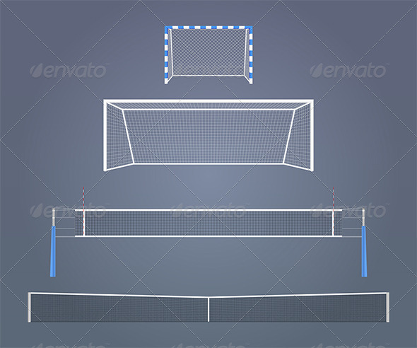 GraphicRiver Sports Gates and Nets 6533816