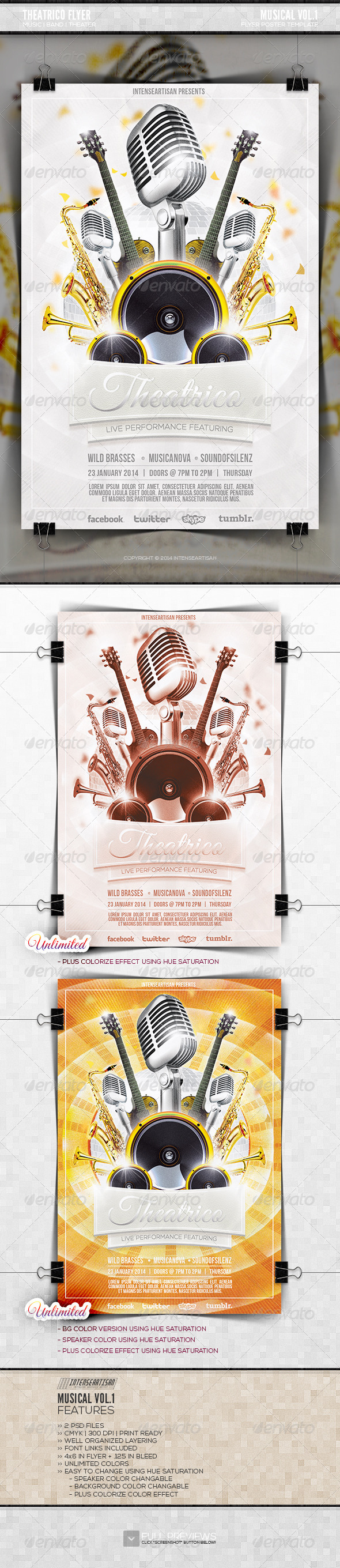 GraphicRiver Musical Flyer Vol.1 6487134