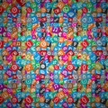 Messy Apps Pattern. Random Multicolored Web Icons. - PhotoDune Item for Sale