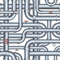 Isolated Seamless Pipeline. Illustration - PhotoDune Item for Sale