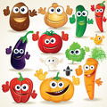 Funny Cartoon Vegetables Clip Art - PhotoDune Item for Sale