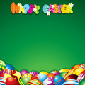 Easter Background with Colorful Painted Eggs - PhotoDune Item for Sale